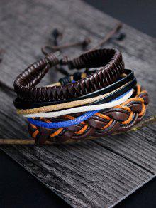 بو حبل نسج الطبقات سوار مجموعة - متعدد الألوان