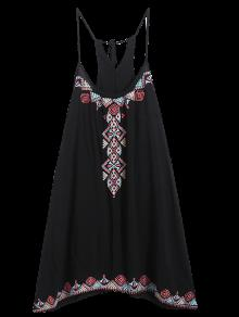 فستان حزام السباغيتي - أسود