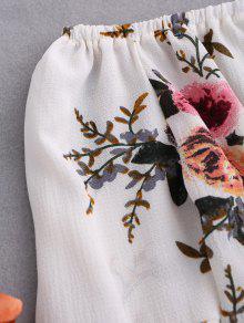 Floral Flare Sleeve Off Shoulder Blouse