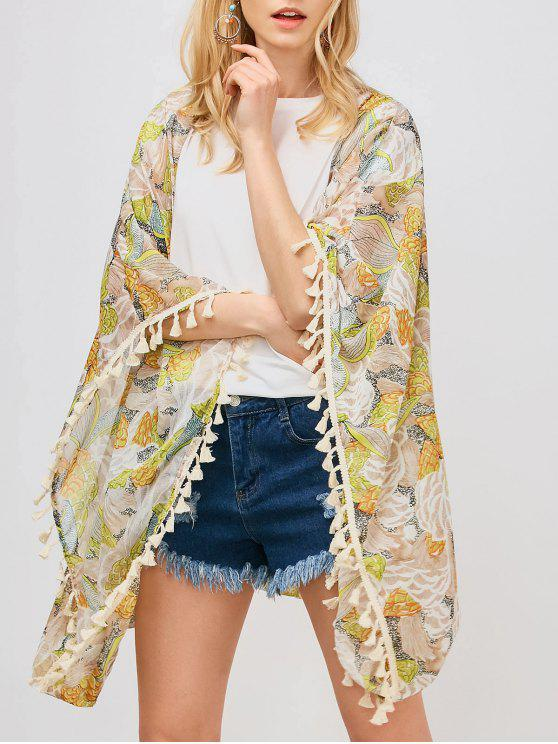 outfit Tassels Floral Kimono - FLORAL S