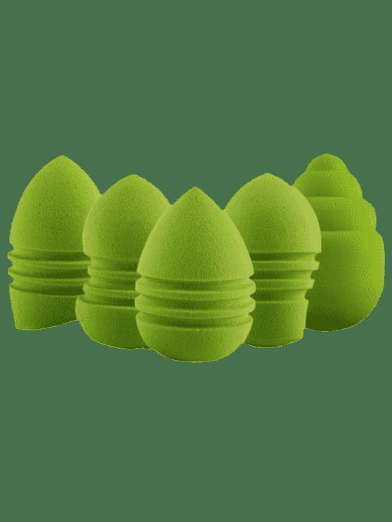 اسفنجة ماكياج من خمس قطع - أخضر