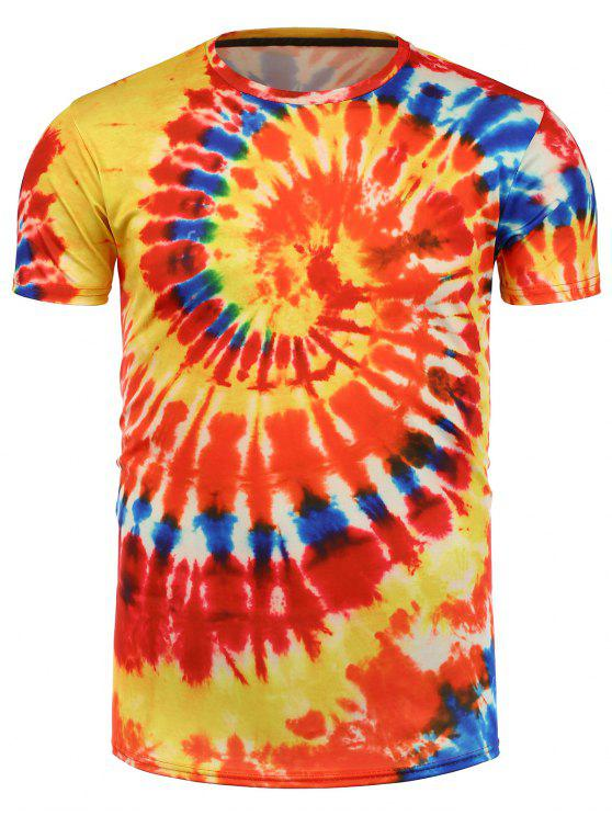 d459346ab5bc 2019 Tie Dye All Over Print T-Shirt In ORANGE 3XL