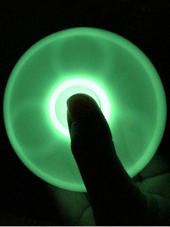 لعبة البلاستيك مصبوب توهج في الظلام إصبع سبينر - اللون الرمادي