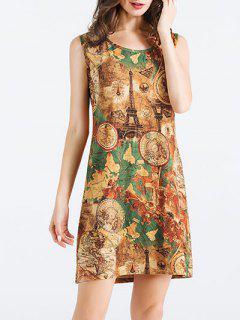 Eiffel Tower Printed Dress - M
