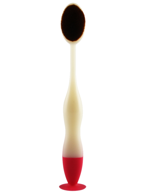 Maange Zahnbürste Form Make-up-Pinsel Foundation - Weiß  Mobile