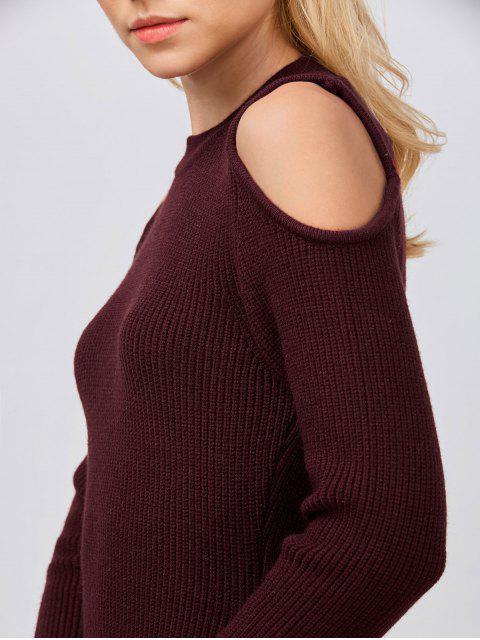 Cold Shoulder Robe - Rouge vineux  S Mobile
