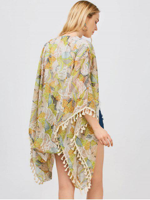 new Tassels Floral Kimono - FLORAL L Mobile
