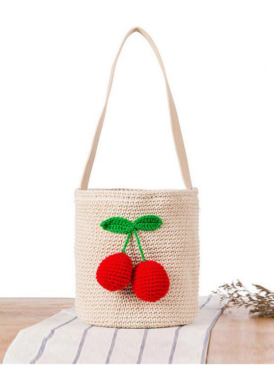 34 Off 2019 Crochet Drawstring Sling Bucket Bag In Off White Zaful