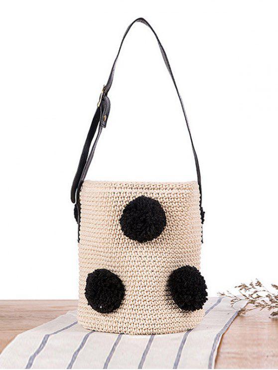 34 Off 2019 Crochet Drawstring Sling Bucket Bag In Multicolor Zaful