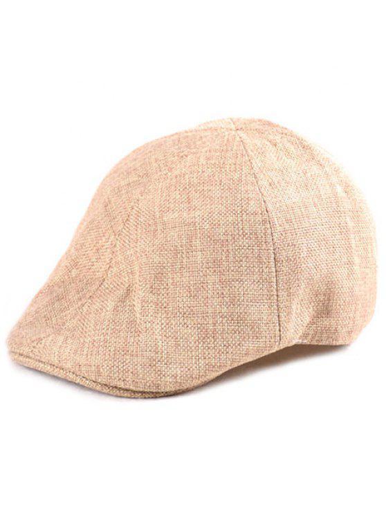 قبعة من الكتان - ضوء الكاكي حجم واحد