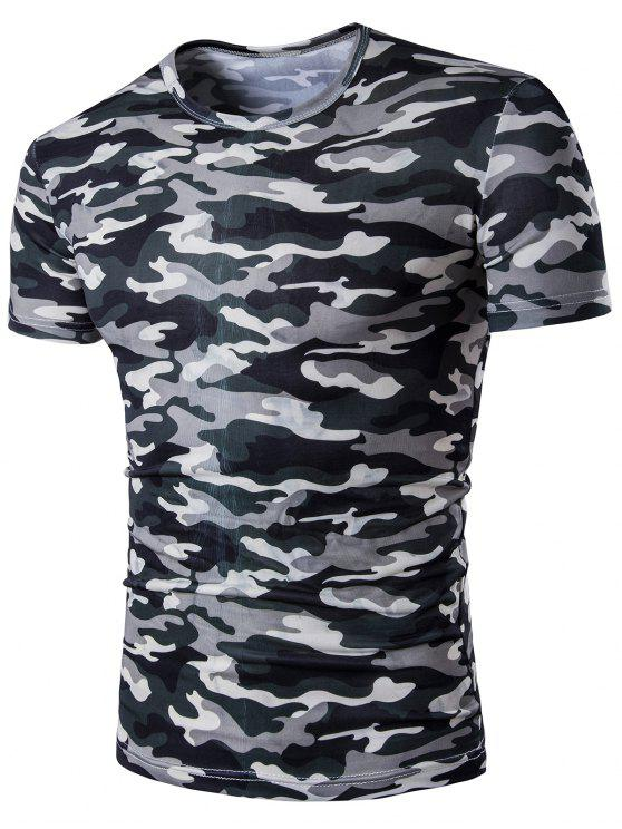 85b8f32950 28% OFF] 2019 Short Sleeve Camo Army Print T-Shirt In CAMOUFLAGE | ZAFUL