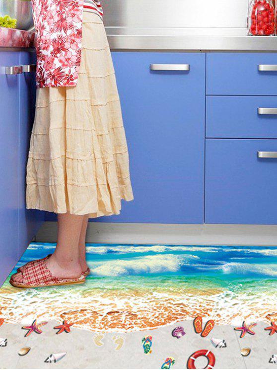 شاطئ نمط للإزالة الكلمة ملصقا جدار ديكور - Colormix 60 * 90CM