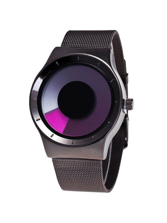 سبيكة حزام دوامة أومبير كوارتز ساعة - أرجواني