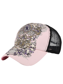 Hand Painted Hot Drilling Baseball Hat - Pink