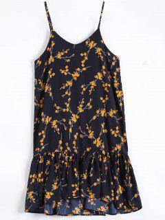 Vestido De La Colmena De Deslizamiento Hem Floral - Azul Purpúreo