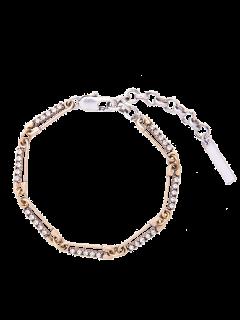 Alloy Rhinestone Vintage Chain Bracelet - Golden