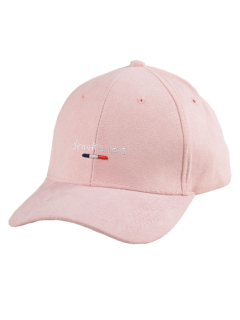 Brookside Embroidery Faux Suede Baseball Hat - Pink