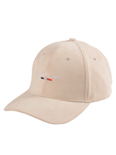 Brookside Embroidery Faux Suede Baseball Hat - Light Khaki