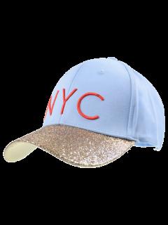 Chapeau De Baseball Bordé à La Bordure NYC - Nuageux