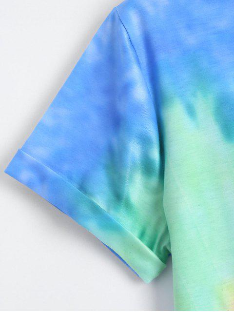 Arc-en-Tie Dye Swirl Tee - Bleu S Mobile