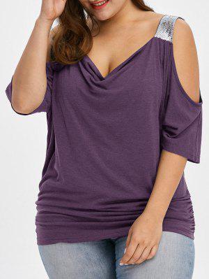 Talla de hombro frío de talla grande T-Shirt