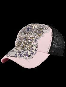Pintado A Mano Caliente De Perforación Sombrero De Béisbol - Rosa