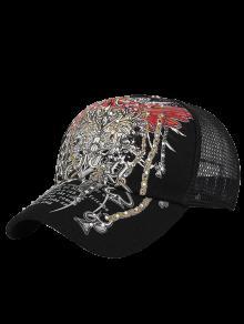 Perforación Totem Caliente Imprimir El Sombrero De Béisbol - Negro