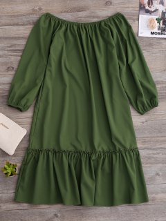 Robe Dénudée Flare - Vert M