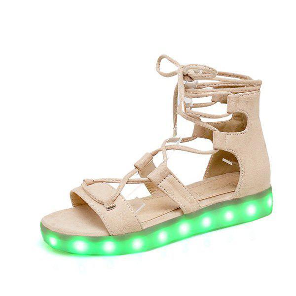 Led Luminous Flat Heel Sandals 210475404