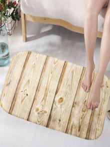 رسمت الخشب الملمس سكيدبروف الفانيلا المنطقة الفنية حمام حصيرة - خشب
