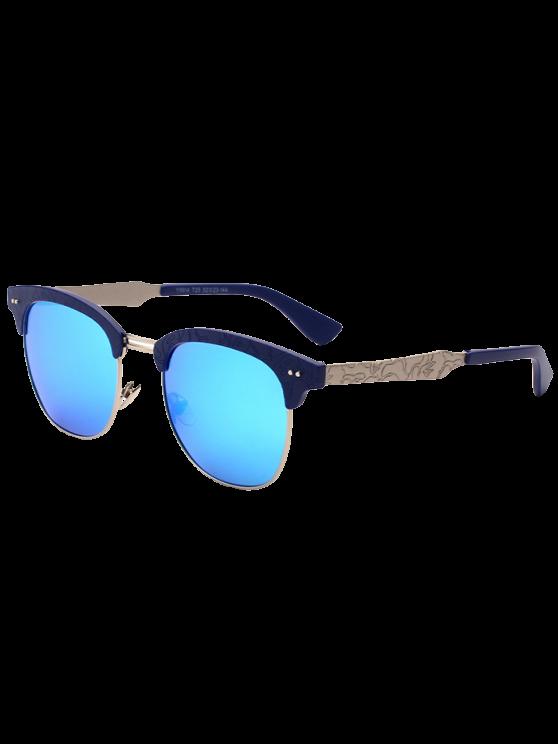 Talle tramo de mariposa gafas de sol espejadas - Nublado