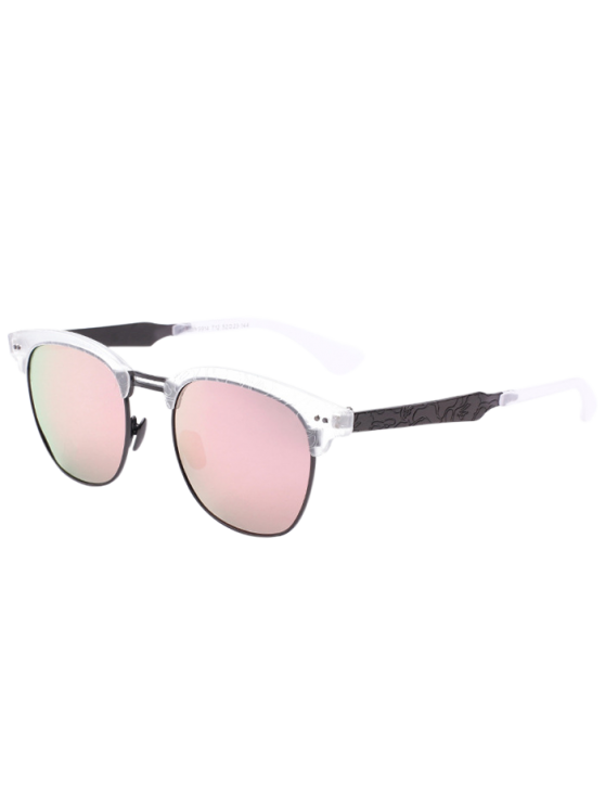 cc6d0e6fe4 2019 Carve Leg Butterfly Mirrored Sunglasses In PINK