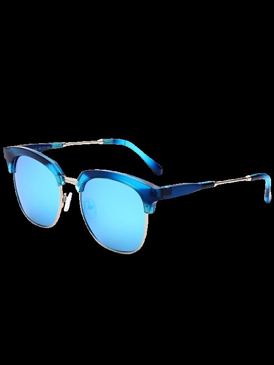 Metallic Panel Club de Mirrored Lunettes de soleil - Or + Bleu Glacieux