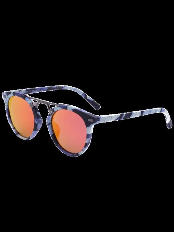 Patrón de mármol con espejo gafas de sol - Rojo Anaranjado