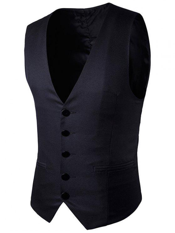 الصدر واحدة فو صدرية جيب - أسود L