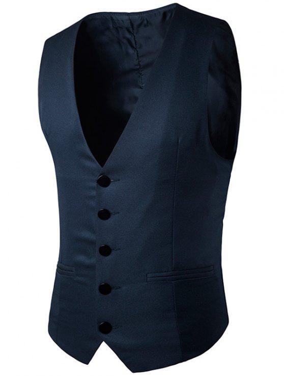 الصدر واحدة فو صدرية جيب - Cadetblue رقم S