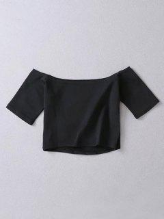 Le Top Rognés épaule - Noir