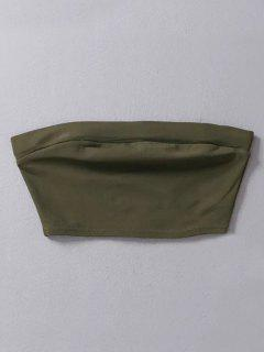 Stretchy Tube Top - Army Green