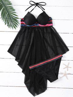Ethnic Print Tulle Skirted Top And Briefs - L