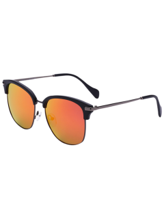 Butterfly Mirrored Sunglasses - Jacinth