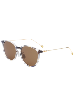 Butterfly Frame Skinny Leg Mirrored Sunglasses - Tea-colored
