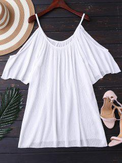 Cami Cold Shoulder Tapa Hacia Arriba - Blanco Xl