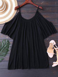Cami Cold Shoulder Cover Up - Black S