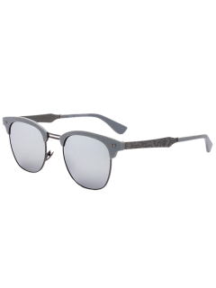 Talle Tramo De Mariposa Gafas De Sol Espejadas - Plata