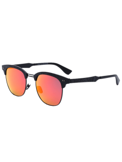 Carve Leg Butterfly Mirrored Sunglasses - Jacinth