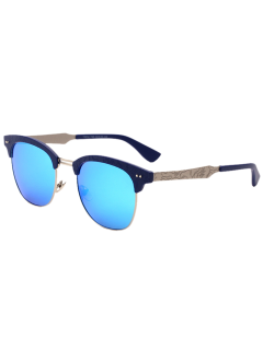 Carve Leg Butterfly Mirrored Sunglasses - Cloudy