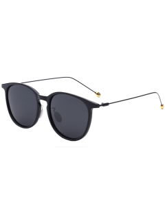 Butterfly Frame Skinny Leg Sunglasses - Black