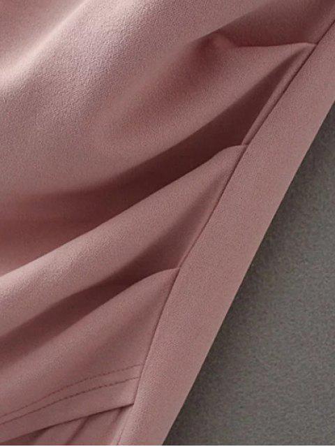 shop Off Shoulder Ruched Bodycon Dress - BLACK S Mobile