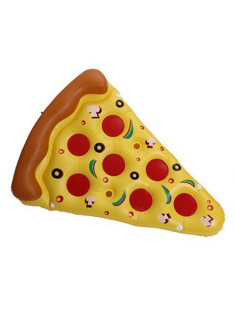 online Pizza Shape Inflatable Swimming Float - MANDARIN  Mobile