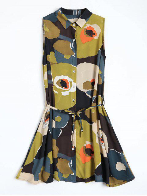 Blumenmuster Mini-Chiffon-Kleid - COLORMIX  M Mobile